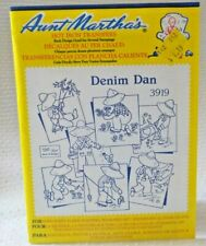 Aunt Martha's Hot Iron On Transfers - 3919 DENIM DAN Large Embroidery designs