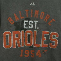 Baltimore Orioles 1954 Mens S Gray T-Shirt
