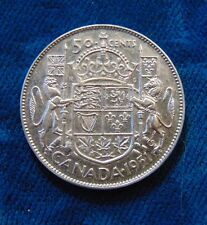 CANADA 1951 silver half dollar fifty 50 cents cent piece Canadian  B