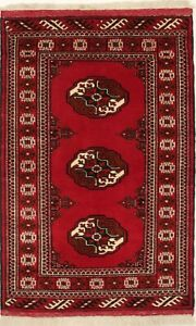 Tribal Design Wool Hand-Knotted 3X5 Vintage Style Oriental Rug Home Decor Carpet