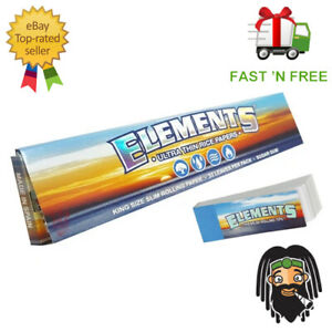 Elements Kingsize Ultra Thin Large Rizla Rolling Papers & Elements Roach TIps