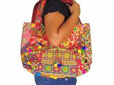 Trendy Multicolor Embroidered Boho Fashion Ladies Shoulder Handbag Hobo Bag