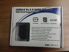 USB2.0 to 2x Sata Adapter with Hard Copy Function