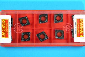 10 Sandvik CCMT 09T308-PM - Grade 4335 CNC Lathe Coated Carbide Turning Inserts