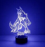 Werewolf LED Night Light, Engraved Free, Horror Movie Werewolf Lamp, with Remote