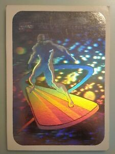 1990 Marvel Universe Silver Surfer MH3 Hologram. Not Perfect. See Pics