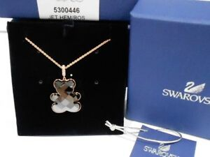Swarovski Teddy Pendant, Black, ROS Crystal Authentic MIB 5300446