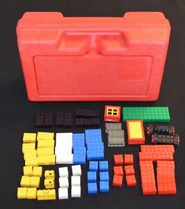 1981 LEGO BASIC SET 322 W/RED STORAGE CASE ALL VINTAGE PIECES EXCELLENT SHAPE