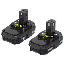 Ryobi P102 18V One+ Compact Lithium Ion Battery 2 Pack New for P271 P234G P118