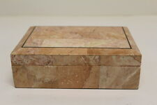 Vintage Karl Springer / Maitland Smith Tessellated Box Stone Vanity Jewelry Box