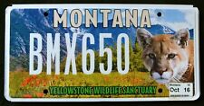 """MONTANA """" YELLOWSTONE WILDLIFE COUGAR MOUNTAIN LION """" MT Specialty License Plate"""