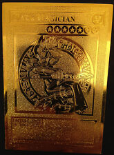 USA Seller Yugioh DARK MAGICIAN English Golden Metal Card Custom Made