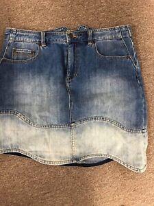 Sass & Bide Fiesta Barcelona Denim Skirt Size 42