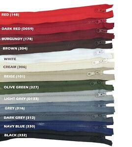 Open End CHUNKY Zip Size #5 Plastic Fastener Single Sided Zipper for Jackets UK