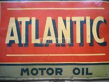 MOTORI_OLIO_LUBRIFICANTI_ATLANTIC OIL_STORICA TARGA PUBBLICITARIA_DA COLLEZIONE