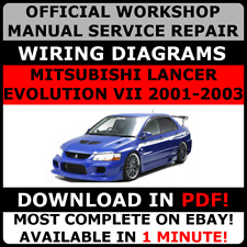 # OFFICIAL WORKSHOP Repair MANUAL MITSUBISHI LANCER EVOLUTION VII 7 2001-2003 #