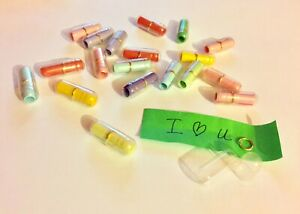 50 pcs Novelty Arts and Crafts Love Pill Letter Envelope Secret Message Capsule