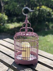 Dusky Pink Bamboo Birdcage Lantern