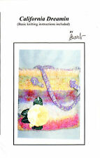 "UNCUT Barb Originals Knitting Sewing Pattern ""California Dreamin"" Felted Bag"