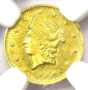 1853 Liberty California Gold Half Dollar 50C BG-428. NGC Uncirculated Dets (UNC)