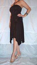 Calf Length Viscose Patternless Halterneck Dresses for Women