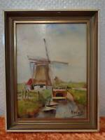 Oil Painting/Painting - Windmill - Signed N. Wilt - Vintage