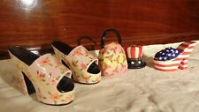 miniature shoes with purses-stars and stripes w/american pill box hat 5 in lot