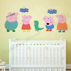 Peppa Pig  Wall Stickers Baby Kids Bedroom Nursery Decor Art Mural Decal