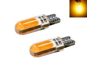 Ampoules T10 LED W5W COB Orange Veilleuses pour clignotants voiture 12V