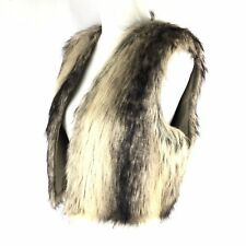 JACK Vest Faux Fur Sz L Womens Nordstrom Sleeveless Cropped NWT