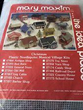 New ListingMary Maxim plastic canvas needlepoint musical Christmas village kit