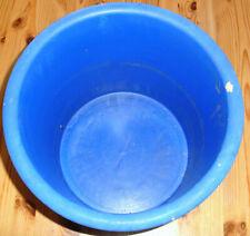 frostfest Durchmesser 29 mit glattem Rand Blumentopf mit blauer Schmuckglasur