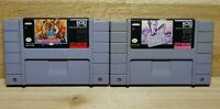 KOEI SNES Video Game Lot Uncharted Waters New Horizons & Operation Europe Tested
