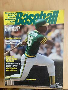 STREET AND SMITH'S 1981 BASEBALL Magazine RICKEY HENDERSON COVER NM-