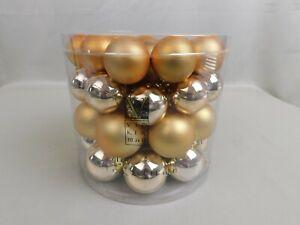 Vickerman 1.5-2-Inch Gold Shiny/Matte Ball Christmas Ornaments 50 Pack #C523