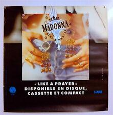 MADONNA- LIKE A PRAYER- AFFICHE PROMO ORIGINALE – COLLECTOR  -TRÈS RARE – 1989