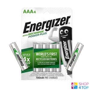 6 ENERGIZER RECHARGEABLE AAA HR03 BATTERIES 4BL POWER PLUS 1.2V 700mAh NEW