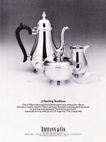 1986 Queesn Anne Sterling Silver Coffee Set photo Tiffany & Co. vintage print ad
