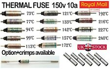 THERMAL FUSE 250V 10A CUTOFF TEMPERATURE SEFUSE  CRIMPS UK SELLER 1ST CLASS POST