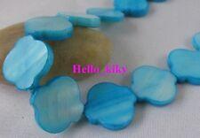 2 strands Sky blue Shell Lantern loose beads M866