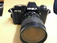Minolta X-7A 35MM SLR film Camera With MD mount Zoom Lens WORKING !!!