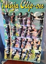 "24 Tyco clip-on 3.5"" Ninja figures with Display & extra weapons  Ray Rohr Estate"
