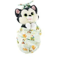 "Baby Figaro Plush with Blanket Pouch 10"" Babies Disney Theme Parks NEW"