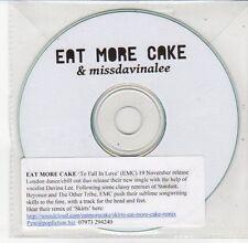 (DV625) Eat More Cake & Missdavinalee, To Fall In Love - DJ CD