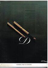 """Publicité Advertising 1978 Les Stylos """"Vermeil"""" par S.T Dupont"""
