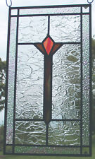 New, Arts & Crafts style Leaded Stained Glass Window