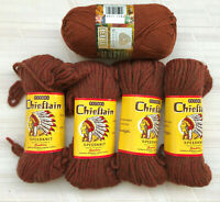 🧶PATONS Chieftain Beehive Speedknit Wool LOT of 4 Yarns +BERELLA 1 Skein Brown