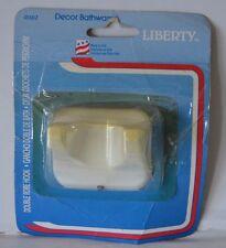 LIBERTY Decor Bathware Double Robe Hook wall mounted #D302 white metal