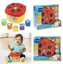 Vtech Sort & Discover Drum Toy Game Learning Lights Sounds New