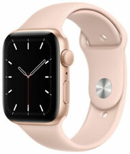 Apple Watch SE 44mm Gold Aluminum Case with Pink Sand Sport Band -  (GPS)